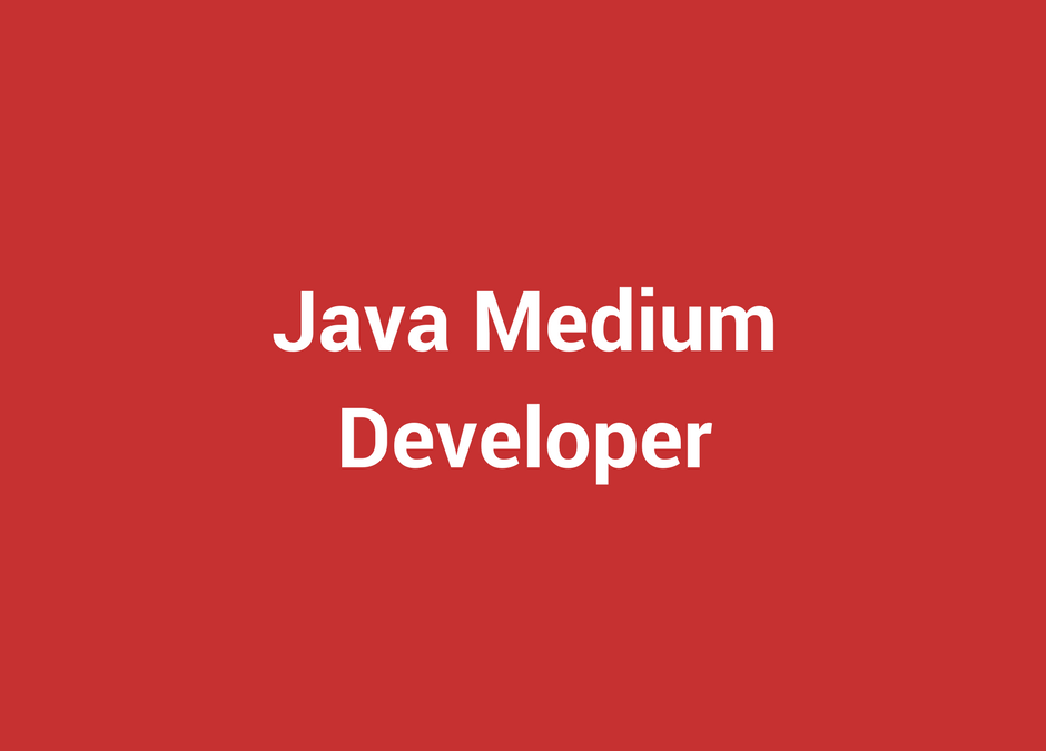 Java Medium Developer